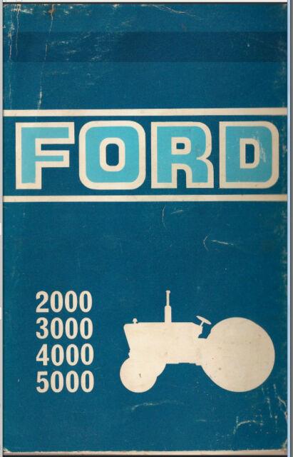 ford tractor service manual 1965 1975 series 2000 3000 4000 7000 pdf rh ebay com Ford 600 Manual ford 5000 rds eon service manual