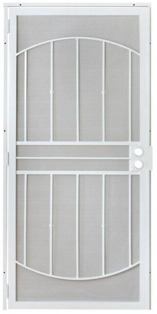 Grisham 805 Series White Defender Security Door Reversible Rust Resistant New  sc 1 st  eBay & Grisham 32x80 In. 805 Series White Defender Security Modern Door ...