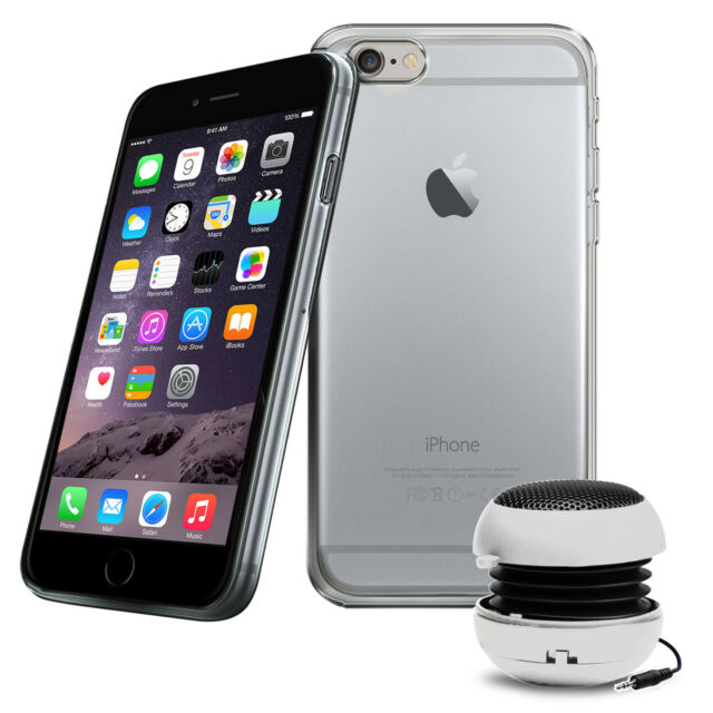 Robust Klar TPU Gel Schutzhülle Cover, Folie & Lautsprecher für Apple Iphone 6