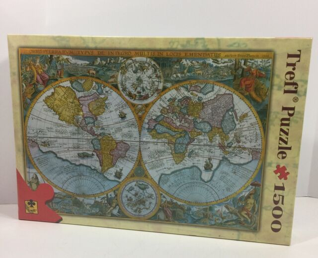 Trefl jigsaw puzzle 1000 pc picture world map of 1594 ebay world map of 1594 new sealed trefl jigsaw puzzle 1000 pc picture gumiabroncs Gallery