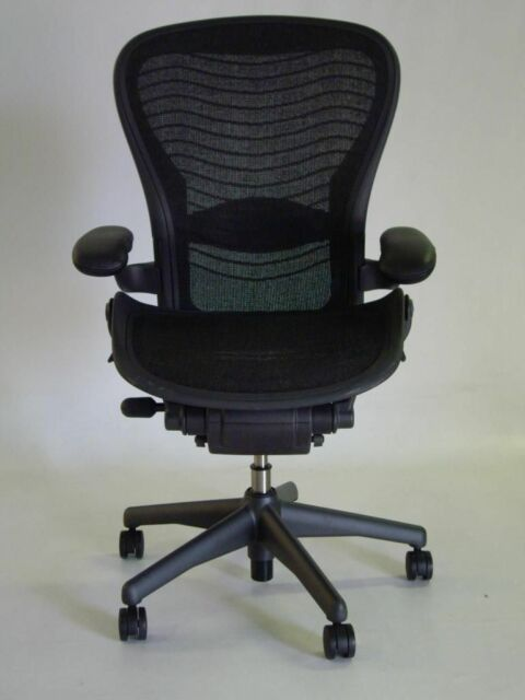 herman miller aeron chair size c leather arm rests carbon color pellicle waves - Aeron Chair Sizes