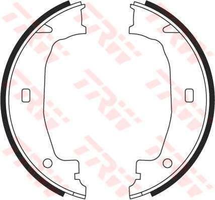 GS8432 TRW Brake Shoe Set, parking brake Rear Axle