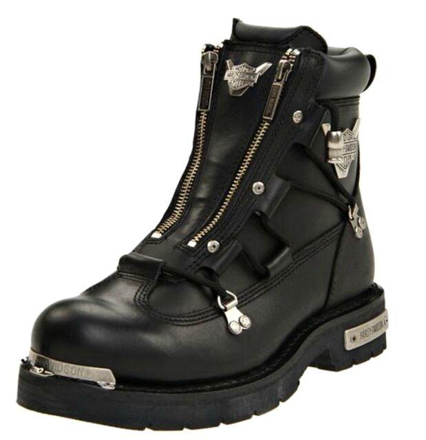 Light Work Mens Boots: Harley Davidson Black Leather Brake Light BOOTS 91680 Mens