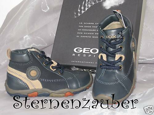 GEOX Lauflernschuhe Schuhe Knöchelschuhe dunkelblau beige B9335W Gr. 20