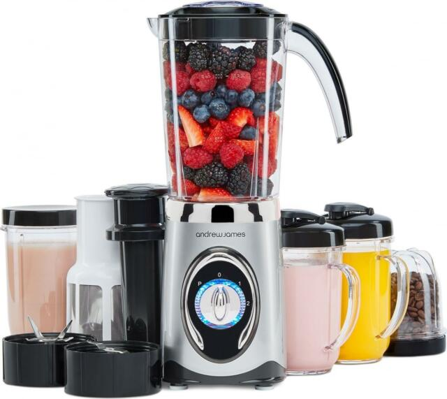 Andrew James 4 in 1 Smoothie Maker, Blender, Grinder, Juicer + Flip Lid Drinking