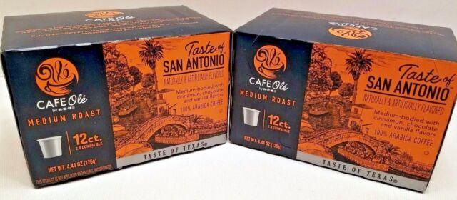 Heb Cafe Ole San Antonio 12 Pack K Cups Coffee Cinnamon