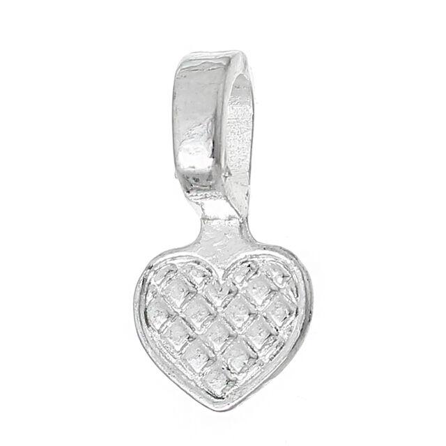 200 glue on heart bails pendant hanger silver plated 16x8mm ebay 5 glue on heart bails pendant hanger silver plated 16x8mm aloadofball Images