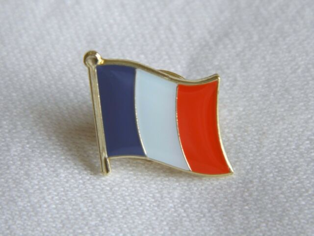 France French Flag Country Metal Lapel Pin Badge