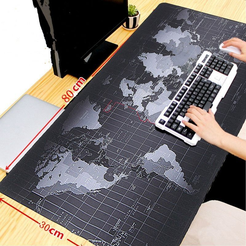extended gaming mouse padlarge size 315 x 118 inches world map edge