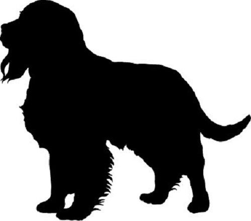 18 x cut dog springer spaniel silhouette craft card topper