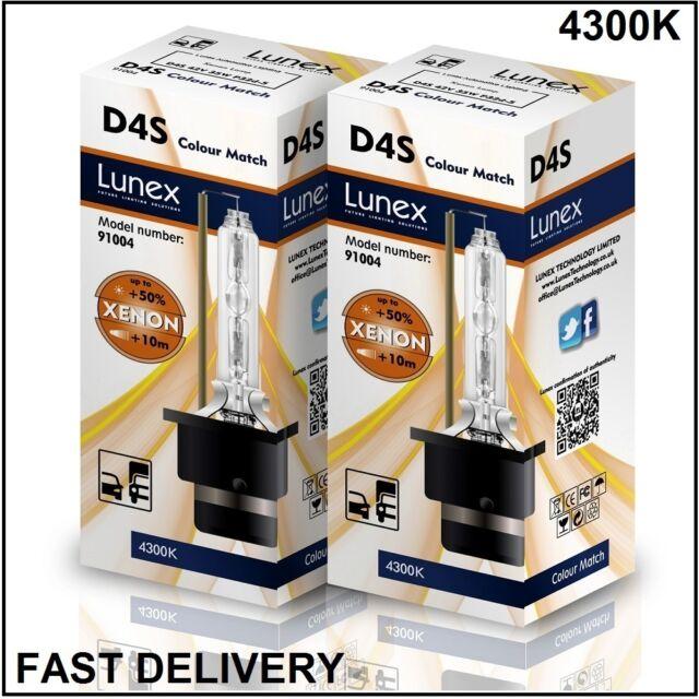 2 x D4S Genuine LUNEX XENON BULB 4300K compatible with XenEco 42402 Xenarc 66440