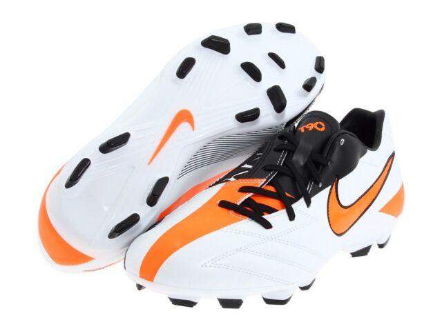 Nike TOTAL 90 SHOOT IV FG 2011 SOCCER SHOES PEARL/ORANGE/BLACK KIDS -