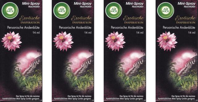 (100ml=14,11€)4x Air Wick Mini-Spray Nachfüller Peruanische Andenblüte, 4x14ml
