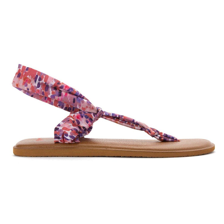 543d60367eb909 Sanuk 1013332 Womens Yoga Sling Ella Prints Flip Flopm- Choose Sz ...