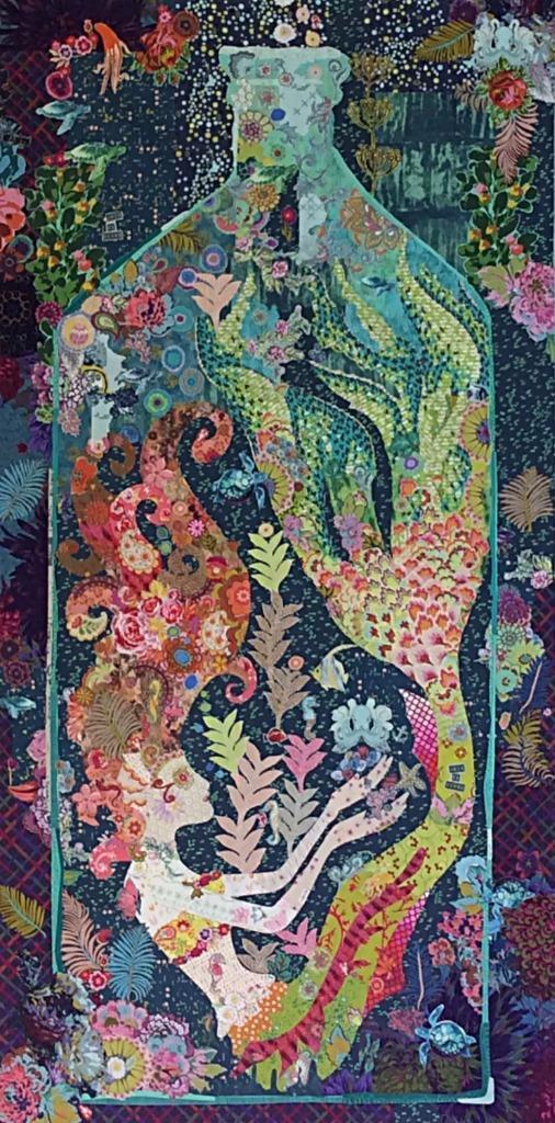 Sirene Mermaid in a Bottle Collage Quilt Pattern Laura Heine ... : photo collage quilt - Adamdwight.com