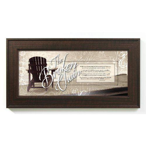 The Broken Chain Bereavement in Memory 8 X 16 Wood Wall Art Frame ...
