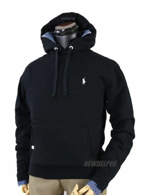 Black Polo Pullover Hoodie