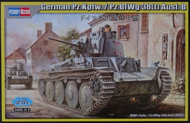 HOBBYBOSS® 80138 German Pz.Kpfw. / Pz.BfWg 38(t) Ausf.B in 1:35