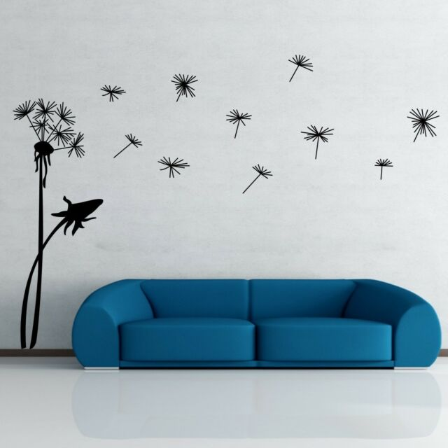 Dandelion Flower Removable Wall Art Decal Vinyl Stickers Mural Home ...