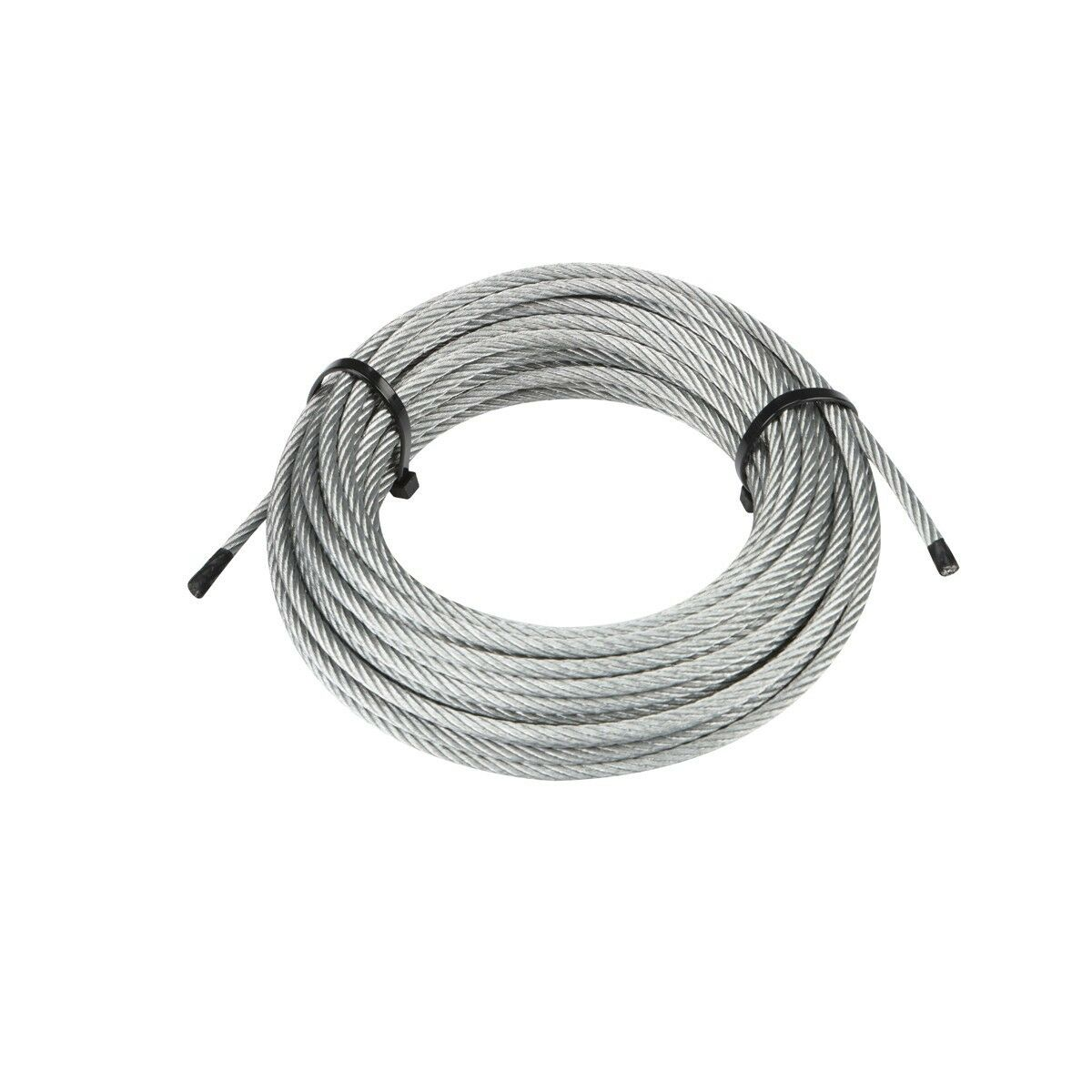 100 Foot X 3mm Galvanized Braided Wire Rope Cable Aircraft Grade ...
