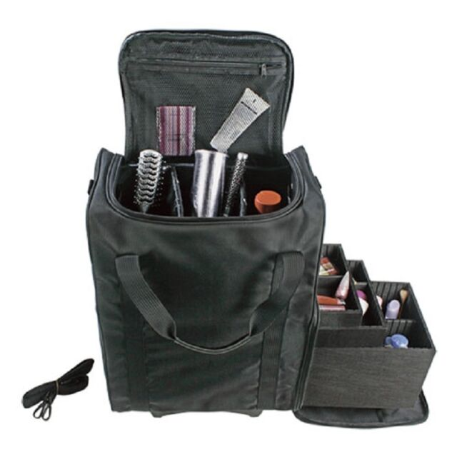 Nylon professional trolley cosmetic makeup artist carry case professional beauty trolley makeup vanity case nail cosmetics hairdressing bag prinsesfo Gallery