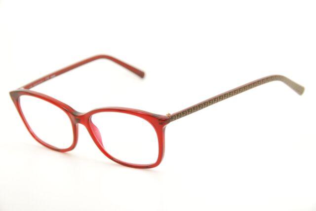 Authentic Fendi F 1020 615 Red/brown Print 51mm Eyeglasses Frames ...
