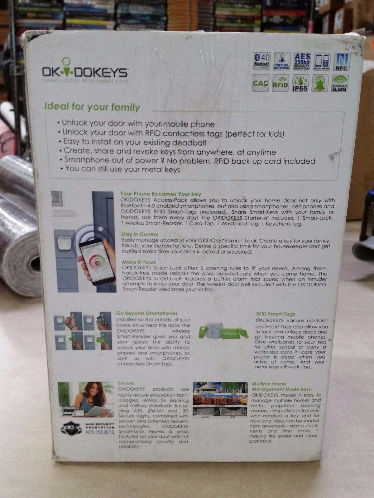 OKIDOKEYS Psmp01ustr Bluetooth Smart Door Lock Classic | EBay