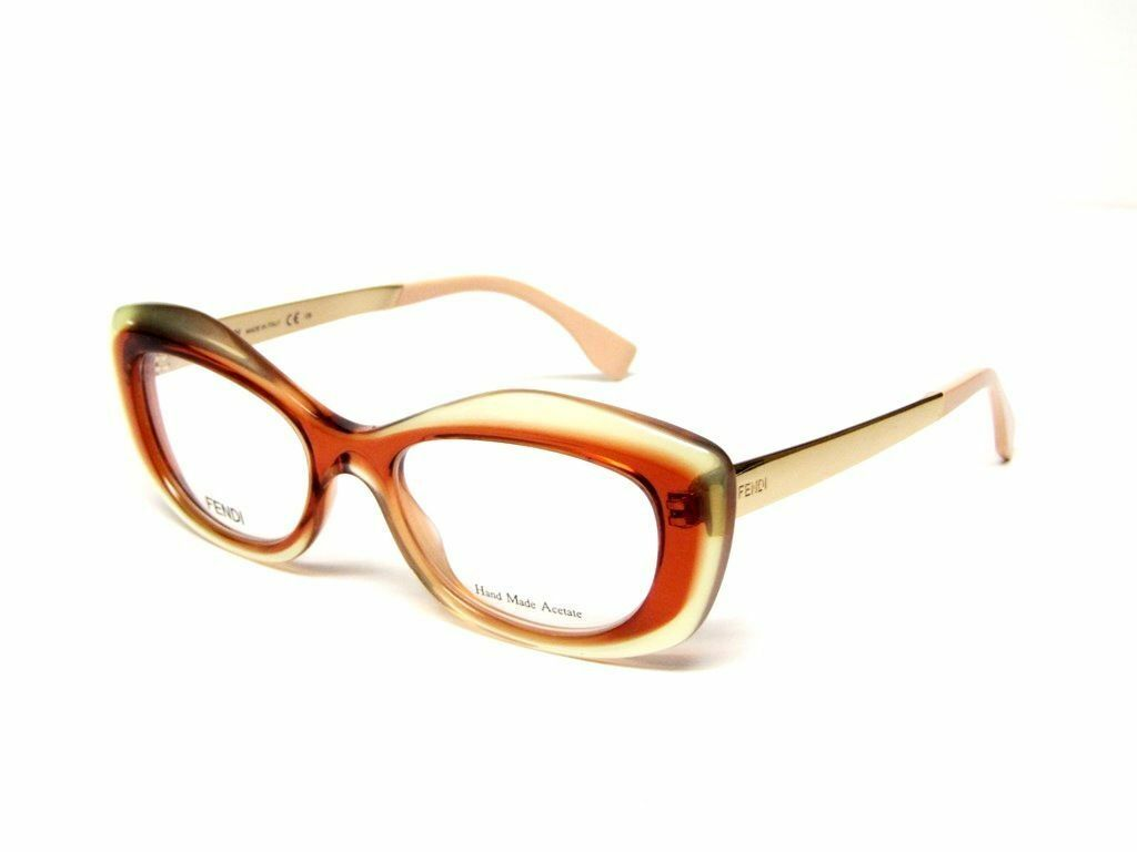 Fendi Eyeglasses FF 0030 7ny Authentic Gold Brown Frame 50mm Rxable ...