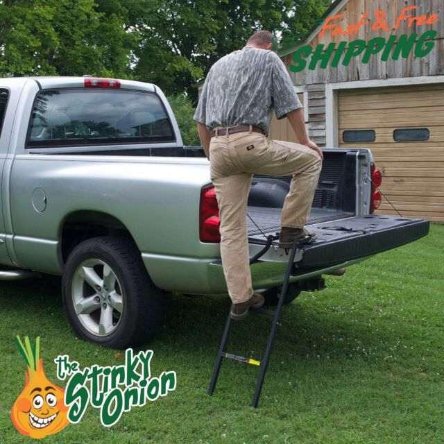 Truck Tailgate Ladder Bed Step Pickup Folding Tail Gate