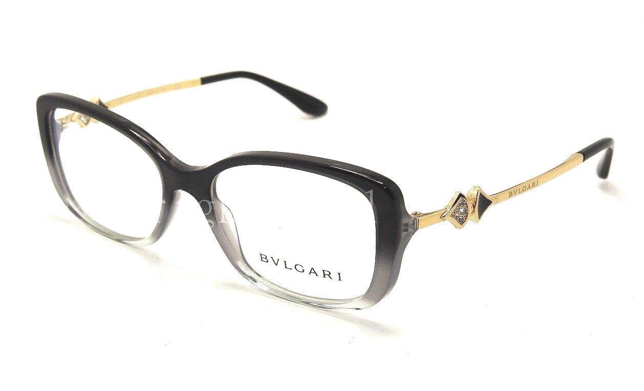 Authentic Bvlgari Black Fade Eyeglasses RX Frame BV 4107b - 5360 ...