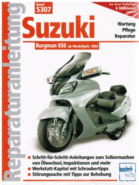 book repair manual suzuki burgman 650 from model year 2002 tape 5307 rh ebay com suzuki burgman 650 executive service manual 2013 suzuki burgman 650 service manual