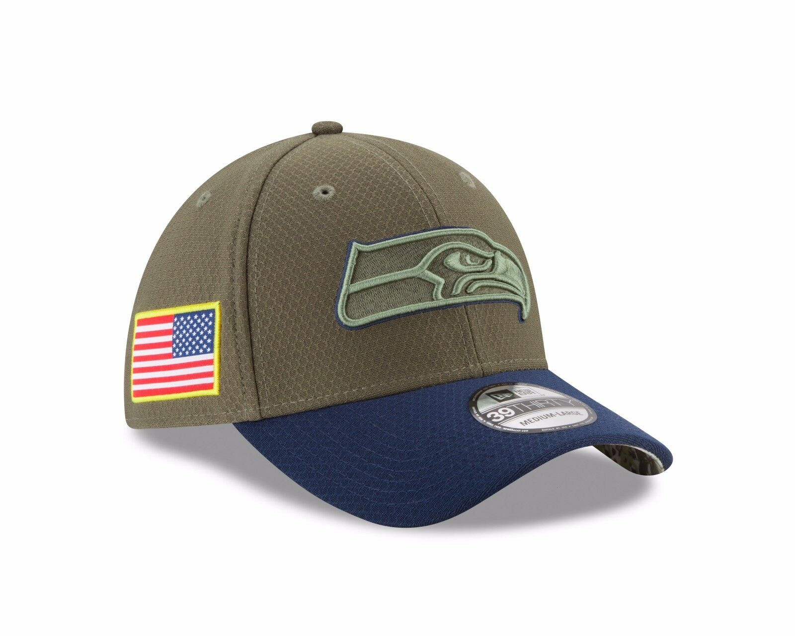 item 3 Seattle Seahawks New Era 2017 Salute To Service 39THIRTY Flex Hat –  Olive -Seattle Seahawks New Era 2017 Salute To Service 39THIRTY Flex Hat –  Olive 4525a9d1a