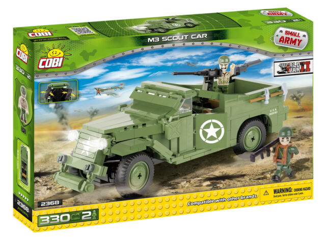 COBI 2368 - SMALL ARMY - WWII US M3 SCOUT CAR - NEU