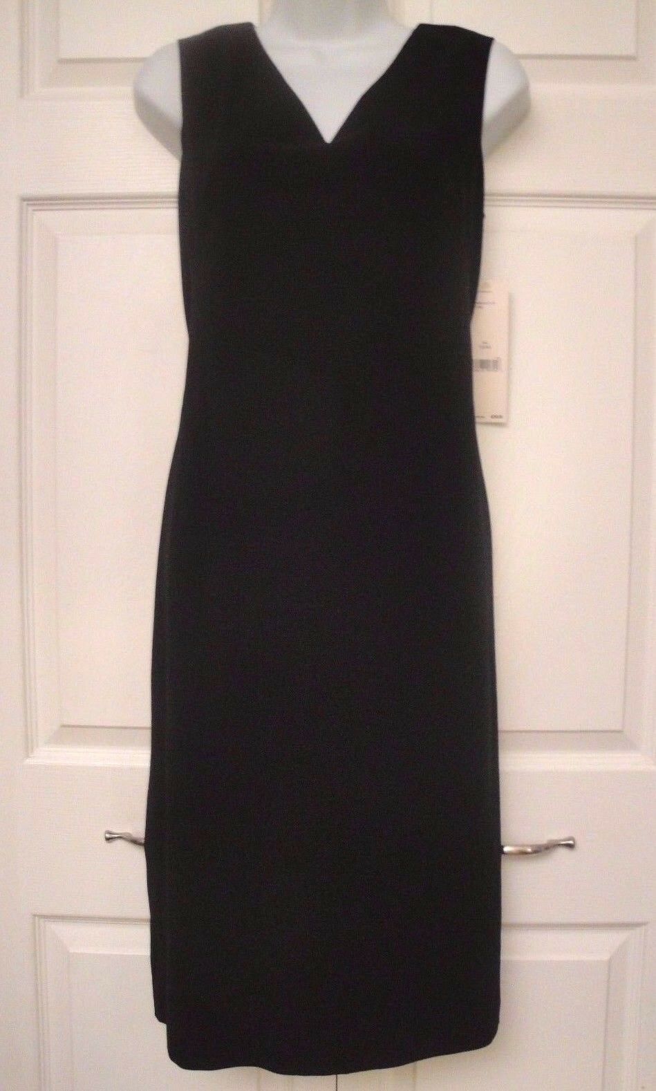Emanuel Ungaro Black Fine Wool Dress Size 10 Fully Lined Ebay