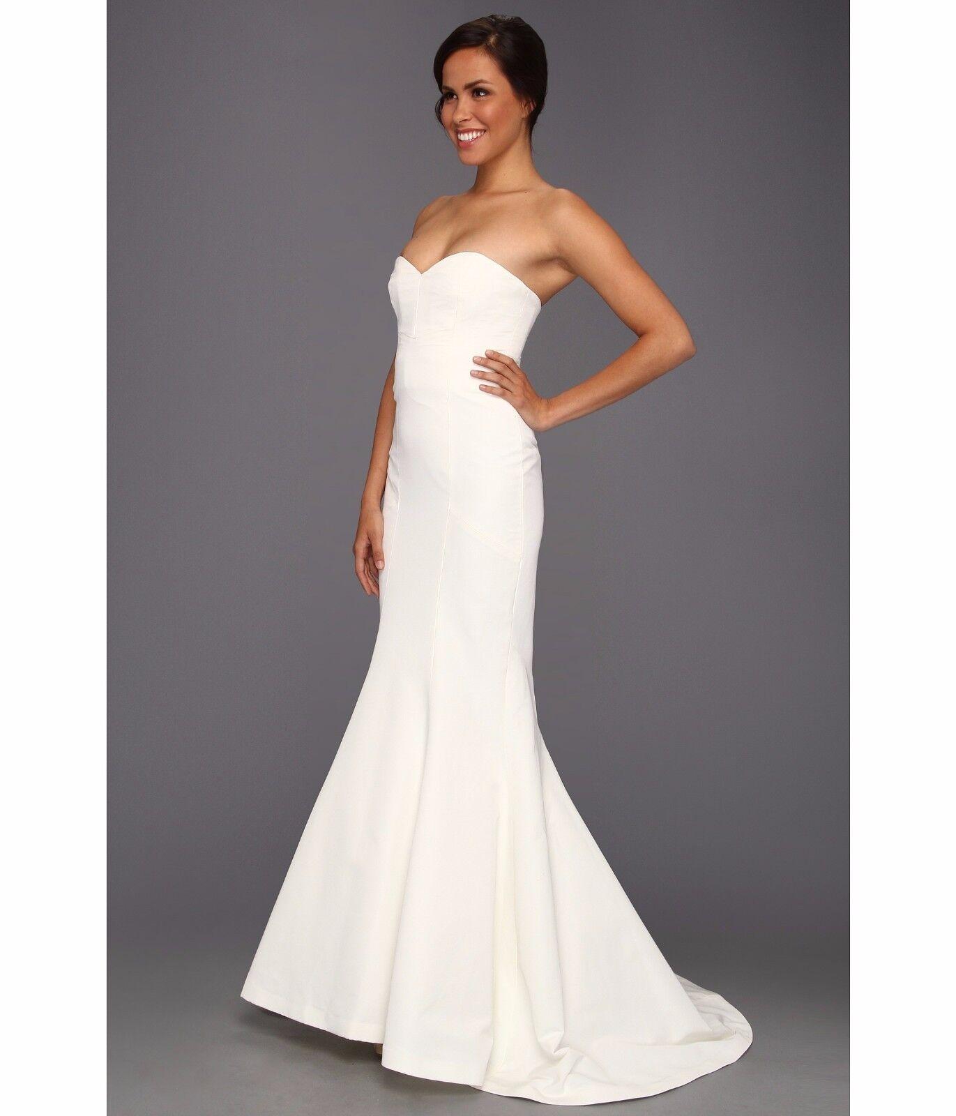 Nicole Miller Dakota Silk Faille Strapless Gown Wedding Dress ...