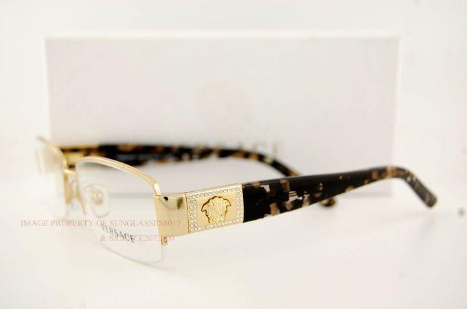 Versace Eyeglasses Frames 1175b 1002 Gold Sz 53 for Women Men 100 ...