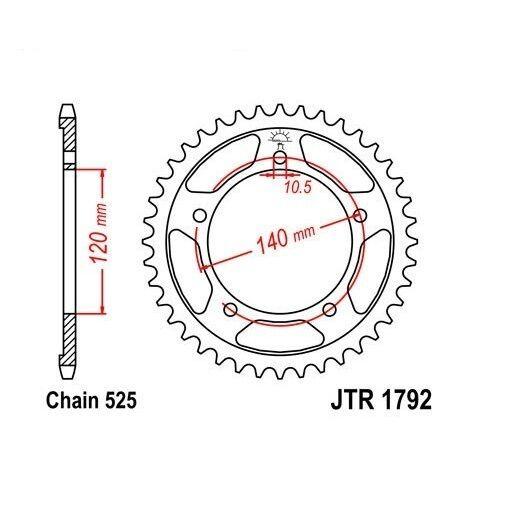 Zahnstange JT JTR1792,42