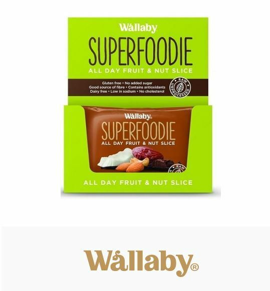 8 x 48g WALLABY Superfoodie Cappuccino Cacao All Day Fruit & Nut Slice 8x48g