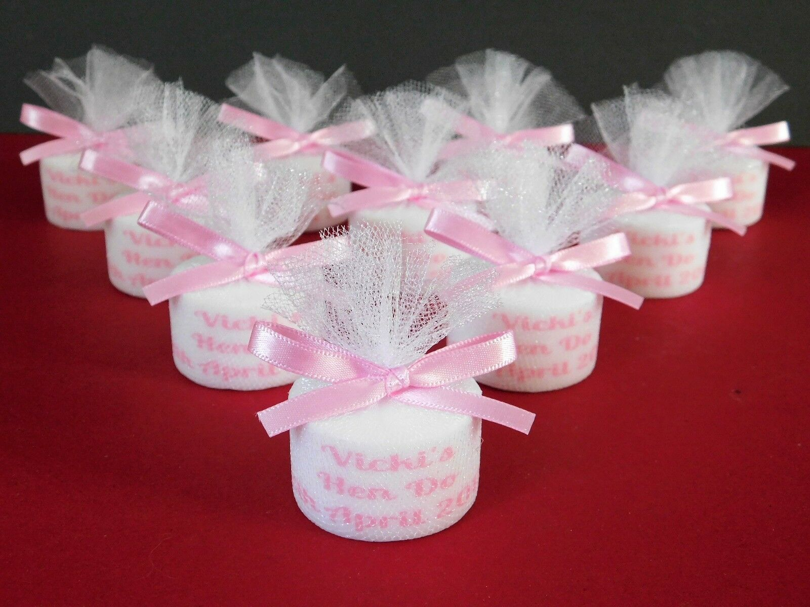 Personalised Candle Tealight Hen Party Favours Any Colour Satin ...