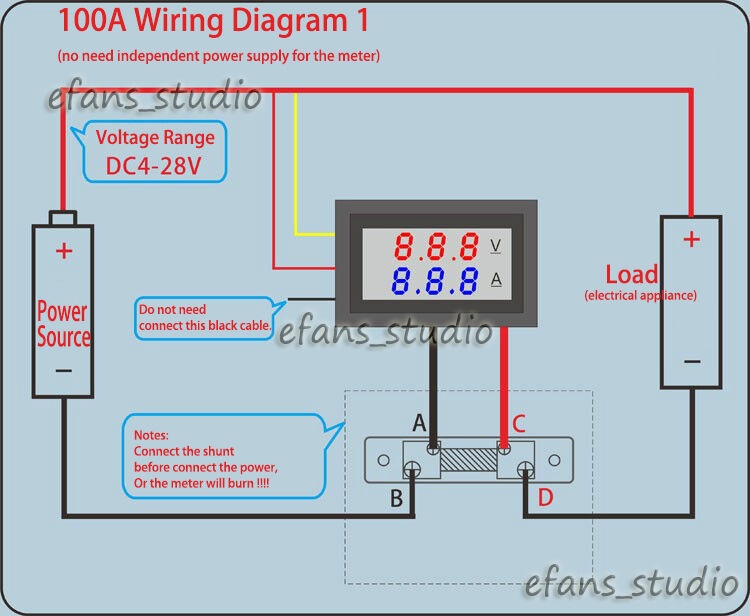 Volt Meter Shunt Wiring Diagram - Custom Wiring Diagram •