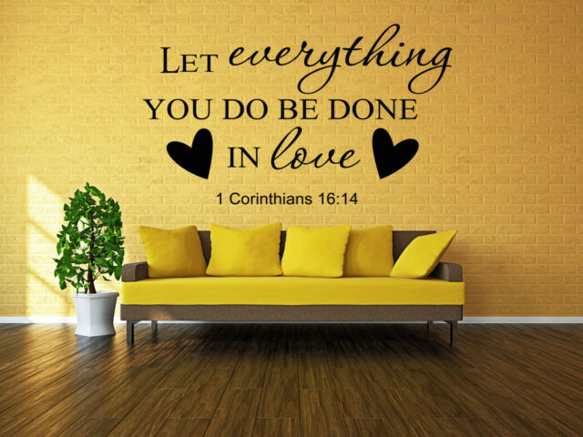 Inspiration Wall Sticker Bible Verse Religious Quotes Art Vinyl ...