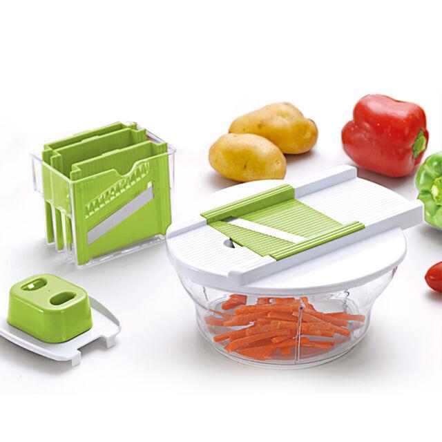 7 tlg. Gemüseschneider Obstschneider Multischneider Gemüsehobel Möhren Hobel Set