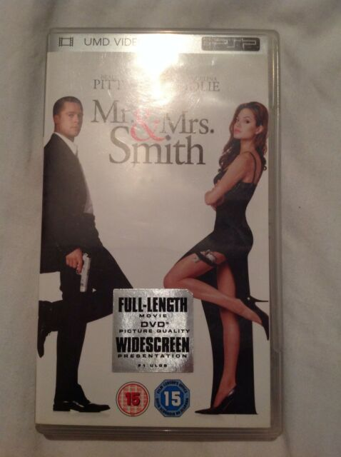 Mr & Mrs Smith UMD video for the Sony Playstation Portable - PSP - 2005 release!