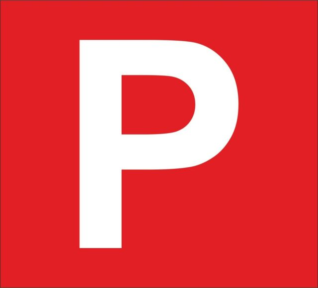 Sticker decal vinyl car p plate red driver licence provisional probationary