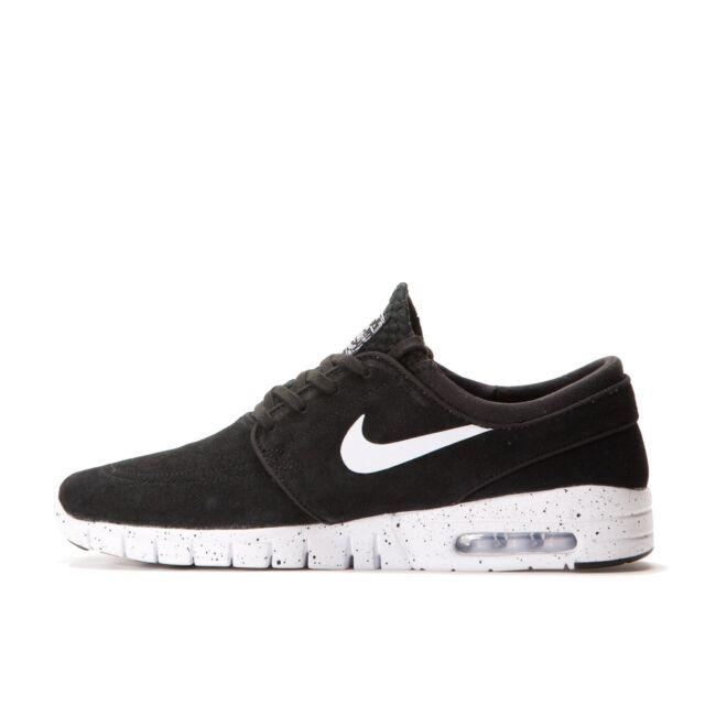 Nike Men's Stefan Janoski Max L Skate Shoe Black/White