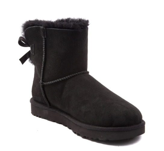ugg mini bailey bow ii black boot 1016501 water stain