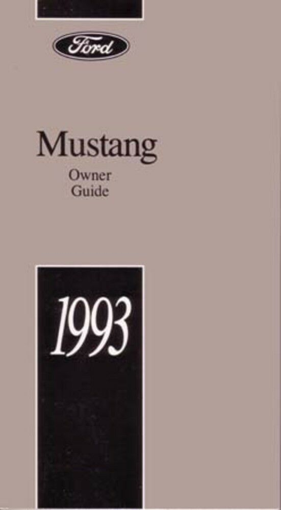 1993 ford mustang owners manual user guide reference operator book rh ebay com Ford Mustang Radiator Ford Mustang Wiring Diagram