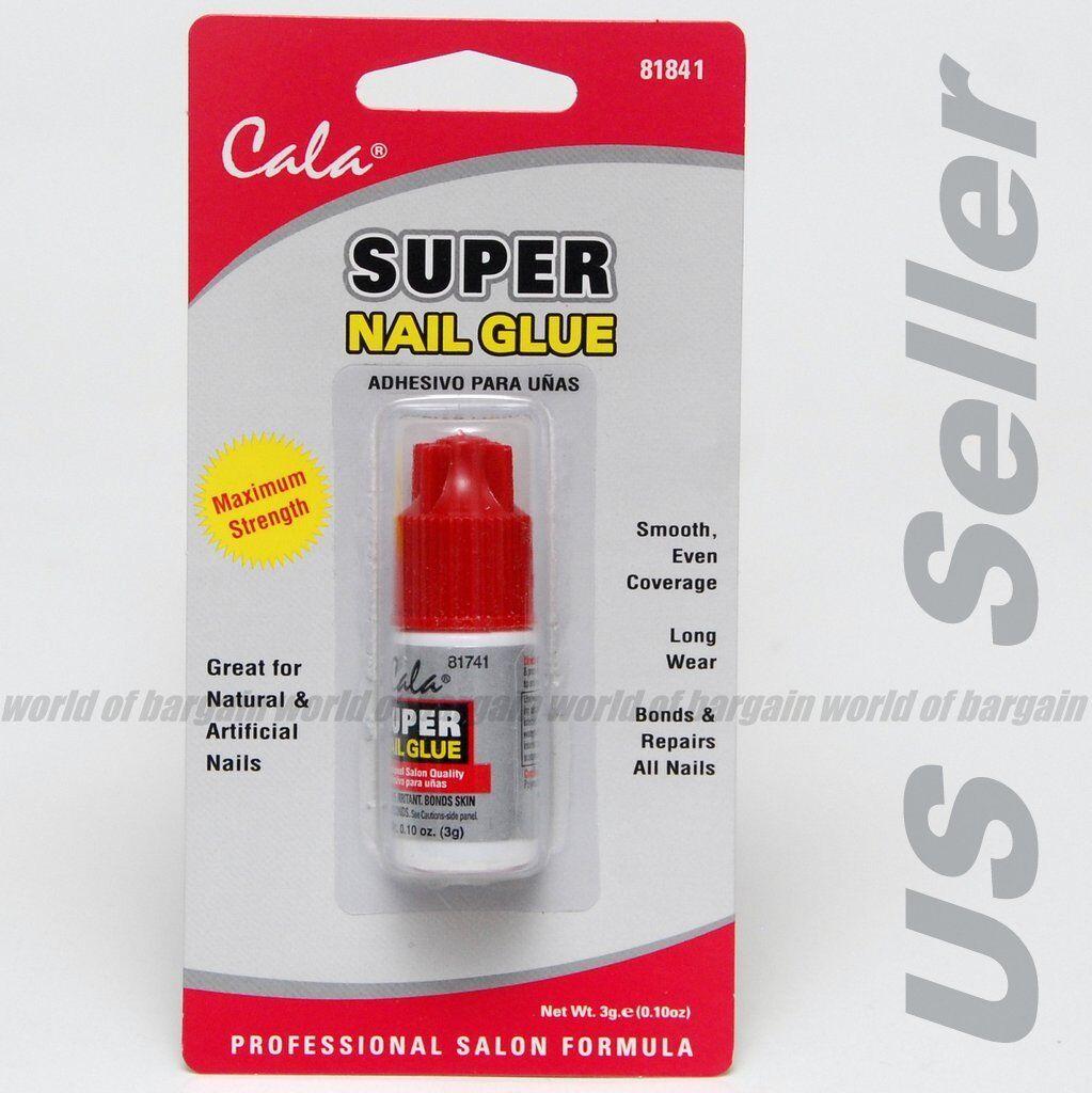 Cala Super Nail Glue Clear Fingernail Adhesive Bonds Real or Fake ...