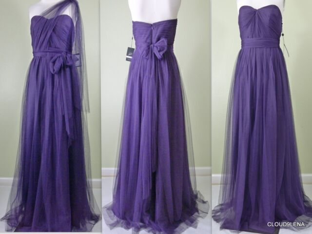 infinity dress. adrianna papell size 4 strapless tulle convertible gown/infinity dress | ebay infinity