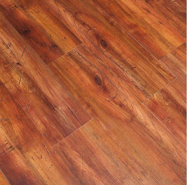 Vinyl Plank Flooring Luxury Laminate Click Hickory Wood Grain Bath